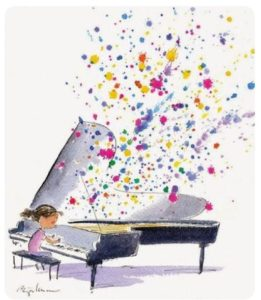 pianiste concert couleurs