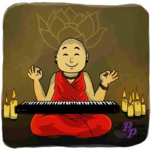 Moine pianiste zen